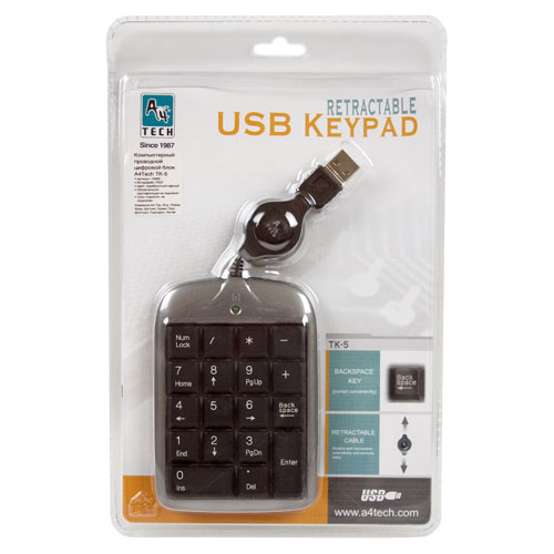A4TECH Mini Numeric Keypad TK-5