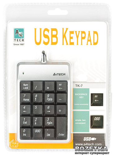 A4TECH Mini Numeric Keypad TK-7