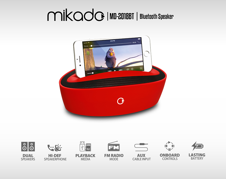 Mikado Md-2018Bt Siyah Bluetooth