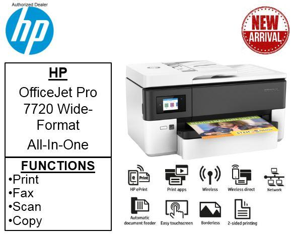 HP Officejet Pro 7720 A3 Scan/copy/fax/print